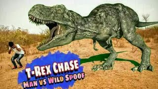 T-Rex Chase | Man vs Wild Spoof | Jurassic World | Fan Made Movie | Sandeep Sky | Multi Creations