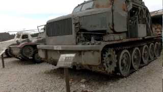 Close look at a Russian BTM High Speed Ditching Machine.