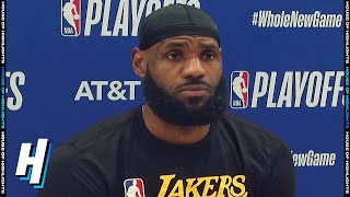 LeBron James Postgame Interview - Game 2 | Rockets vs Lakers | September 6, 2020 NBA Playoffs