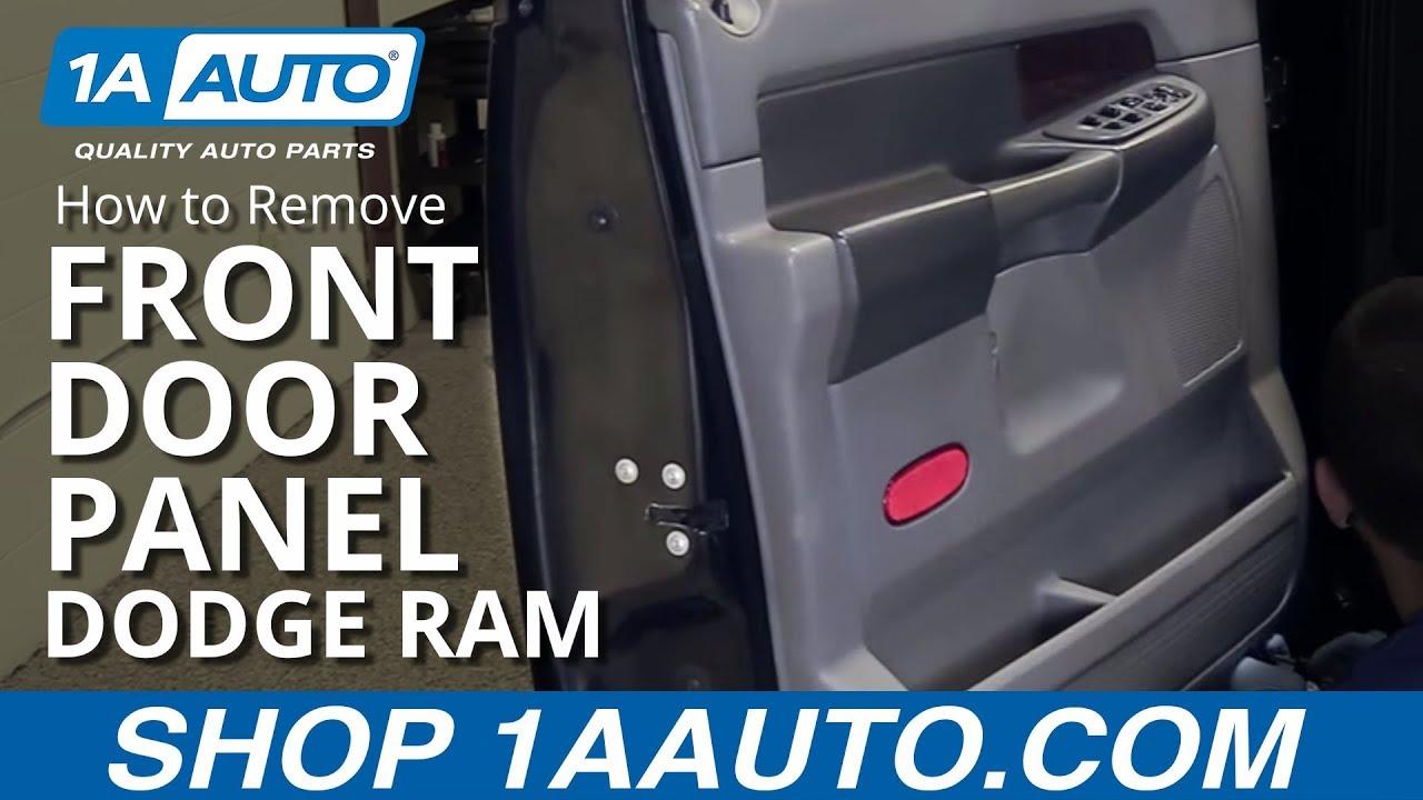 How To Remove Front Door Panel 02 08 Dodge Ram 1500 Youtube