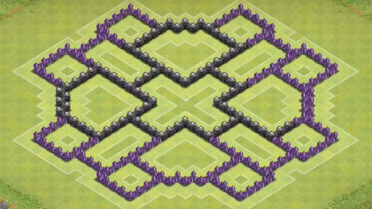 Clash of clans th8 farming base best town hall 8 defense strategy
