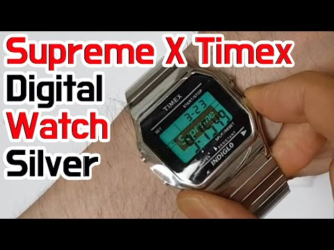 Supreme X Timex Digital Watch Unboxing/Supreme Timex Review
