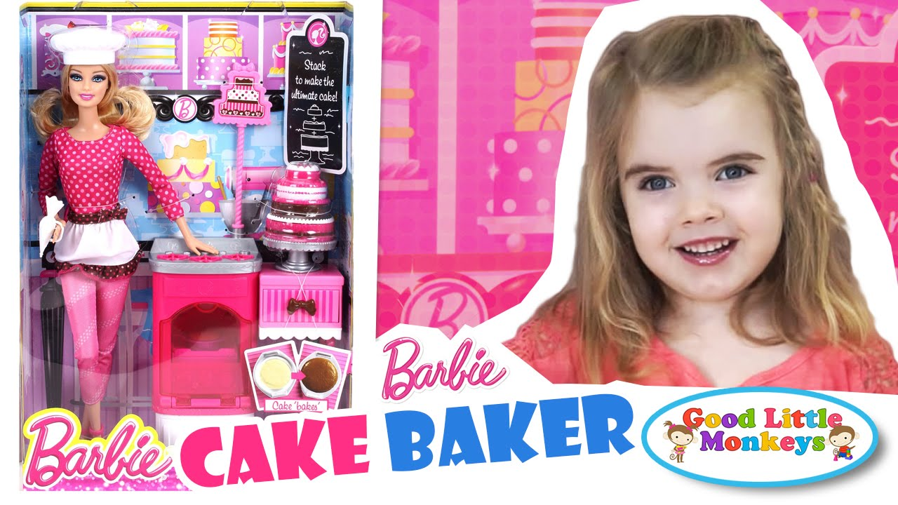 barbie cake baker barbie career review and play youtube. Black Bedroom Furniture Sets. Home Design Ideas