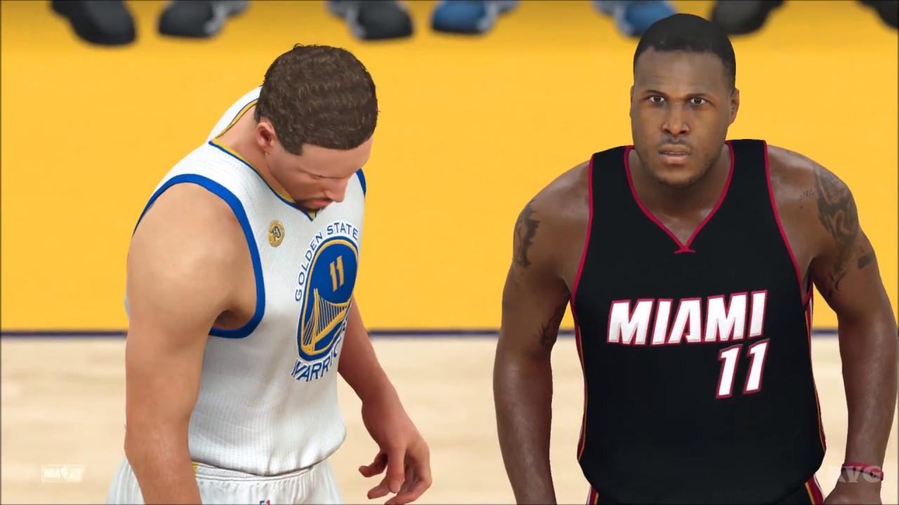Miami heat lebron jamess vs golden state warriors nba2k17 miami - Nba 2k17 Miami Heat Vs Golden State Warriors Gameplay Pc Hd 1080p60fps