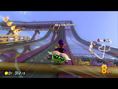 MARIO KART 8 DELUXE: DS WARIO STADIUM: TREED VAGRANT ~ 100cc RACE ONLINE - NO COMMENTARY