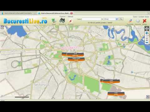Harta Bucuresti Zoom Youtube
