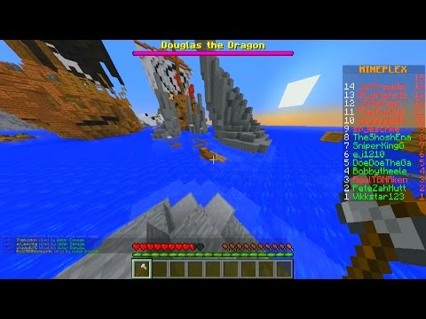 Minecraft DRAGON ESCAPE Parkour #5 with Vikkstar, Pete & Kenny (Minecraft Parkour Mini-Game)