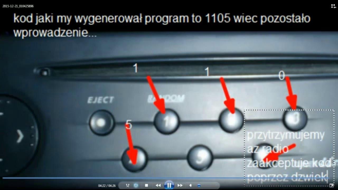 Jak Za Darmo Rozkodować Radio W Renault Youtube