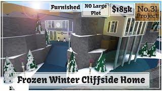 Roblox | BLOXBURG: Frozen Winter Cliffside Home (Speedbuild) (NO Large Plot)