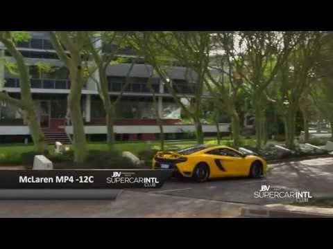 12 Supercars sprinting down Umhlanga Rocks Drive, Top Gear inspired.