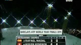 Copa Masters de Tenis 2011/ Federer humilla a Nadal