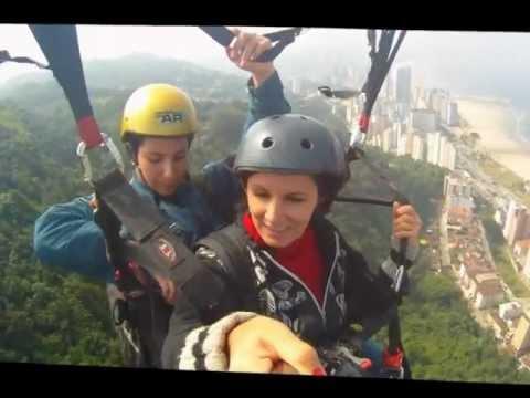 Voo de ParaPente - Piloto: Elaine Almeida x Passageira: Letícia Castro