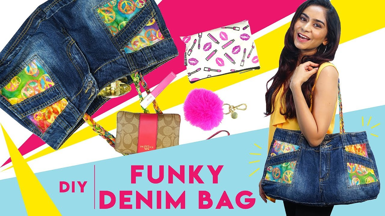 [VIDEO] - How To Recycle Old Shorts Into A Funky Denim Bag | Hauterfly 4