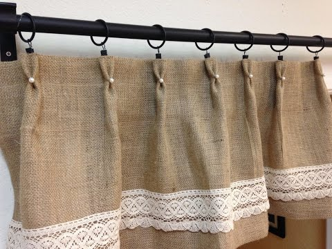 Burlap and lace curtains that you could design yourself