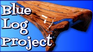 Epoxy Blue Log Project- Firewood Reclaimed 🔥