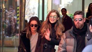 EXCLUSIVE:  Gigi Hadid leaving Paris after the 2016 Victoria Secret fashion show