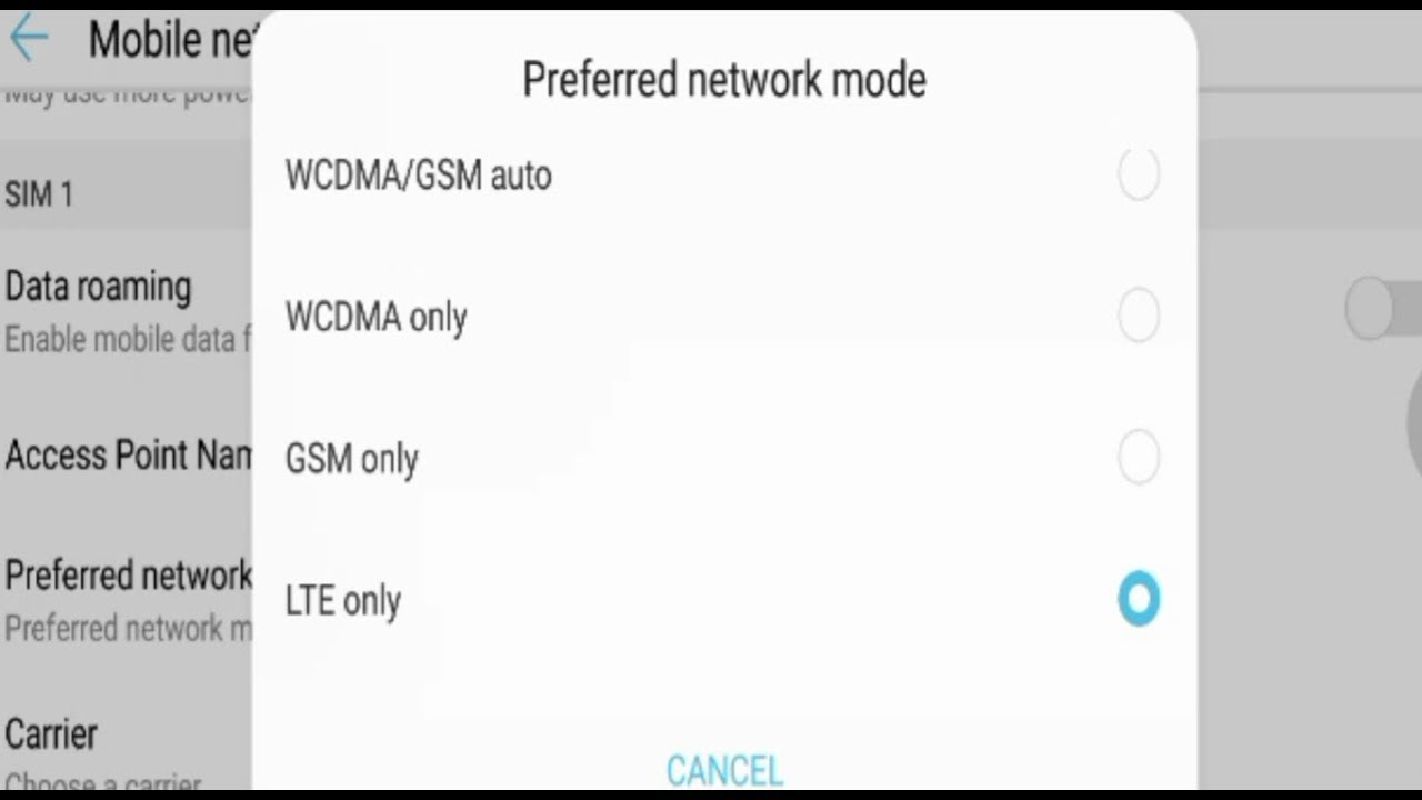 How To Force Lte 4g Only Huawei Mate 10 Lite Nova 2i Honor 9i