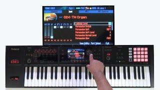 Roland FA-06/08 - How to create custom Tonewheel Organ