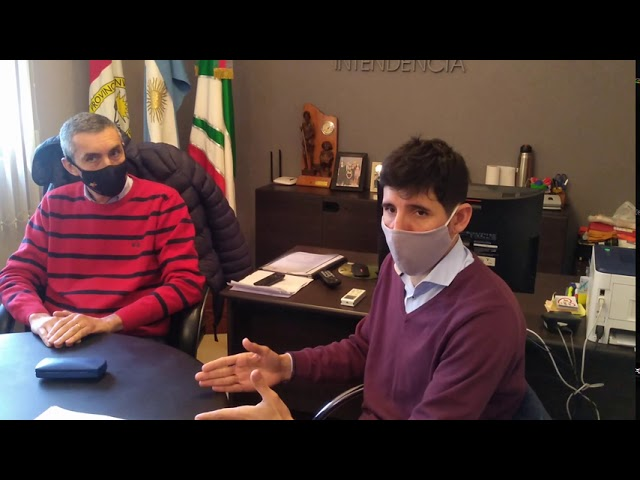 Fabricio Madina presenta huertas comunitarias