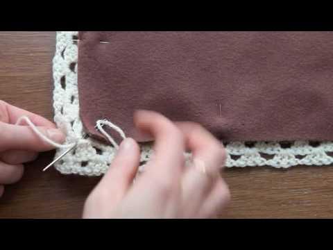 doubler une couverture au point feston et avec de la laine. Black Bedroom Furniture Sets. Home Design Ideas