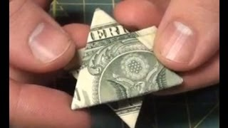 Easy Dollar Bill Origami - Make a Money Star - Tutorial - Star of David