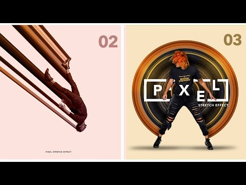 Pixel Stretch Effect In Photoshop | Linear & Circular | Graphic Design