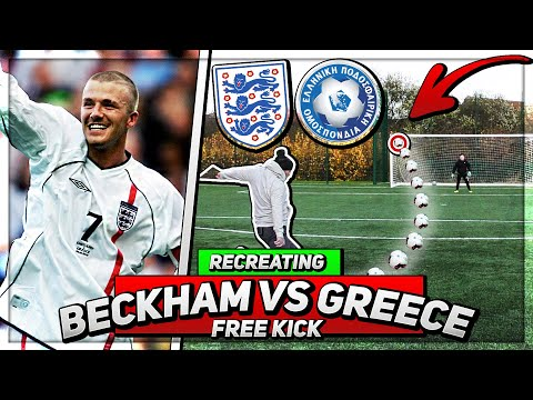 Recreating David Beckham's Free Kick against Greece in 2001
