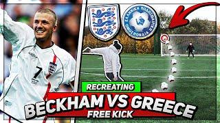 Recreating David Beckham's Free Kick against Greece in 2001