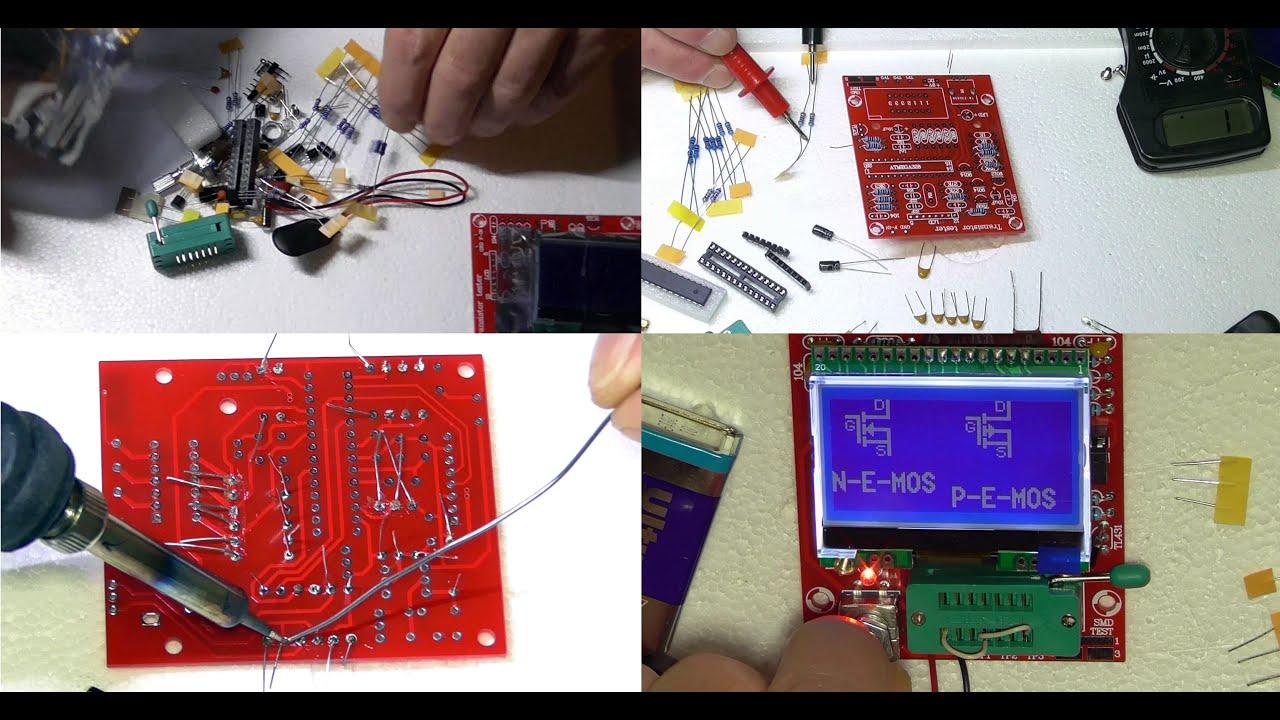 Diy M12864 Graphics Version Transistor Tester Kit From Banggood Led Circuito Basado Probador De Transistores