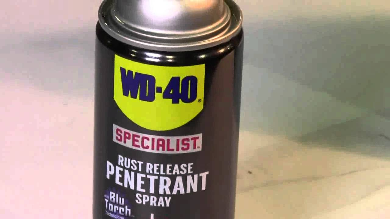 wd 40 specialist rust release penetrant from wd 40 co id11371 youtube. Black Bedroom Furniture Sets. Home Design Ideas