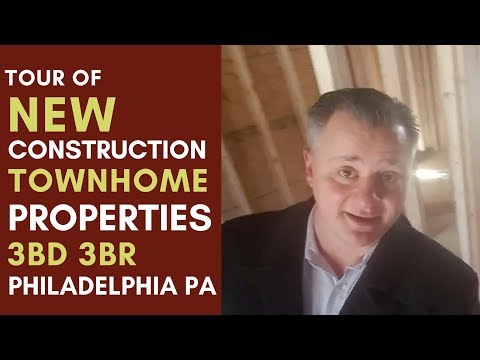 Tour of New Construction Townhome Properties in Philadelphia
