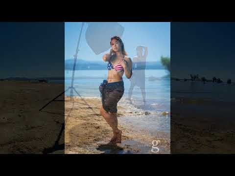 4th Of July American Flag Swimsuit Behind The Scenes Photoshoot - High Speed Sync Strobe
