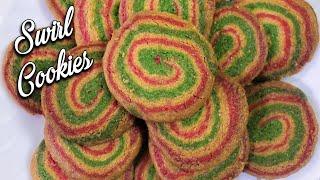 Easy Swirl Cookies Recipe | Christmas Swirl Cookies Recipe | Bakery Style Butter Swirl Cookies