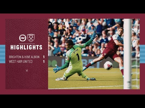 EXTENDED HIGHLIGHTS   BRIGHTON & HOVE ALBION 1 - 1 WEST HAM UNITED