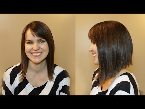 HOW TO CUT WOMENS HAIR / DRAMATIC BOB HAIRCUT