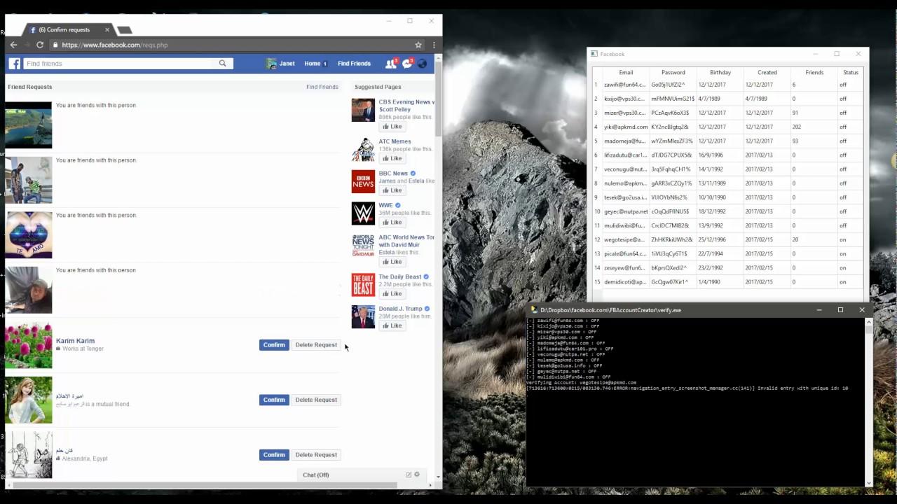 Mass FB Account Verifier + Friend Confirm