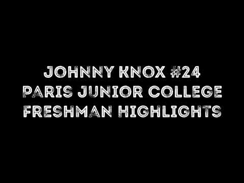 Johnny Knox - Paris Junior College Freshman Year Highlights 2018-2019