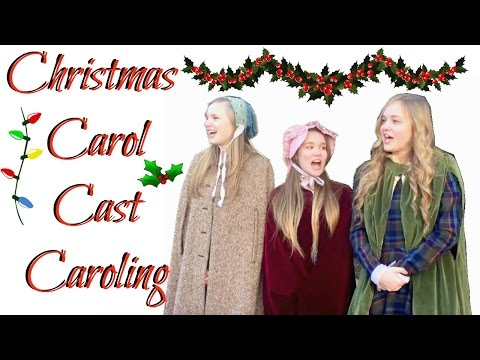 CHRISTMAS CAROLING WITH MY CAST!