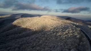 Cherohala Skyway - Drone - Ice/Snow/Sunset - Feb. 2017