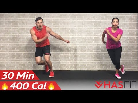 30 Minute HIIT Home Cardio Workout with no Equipment – High Intensity Cardio Routine