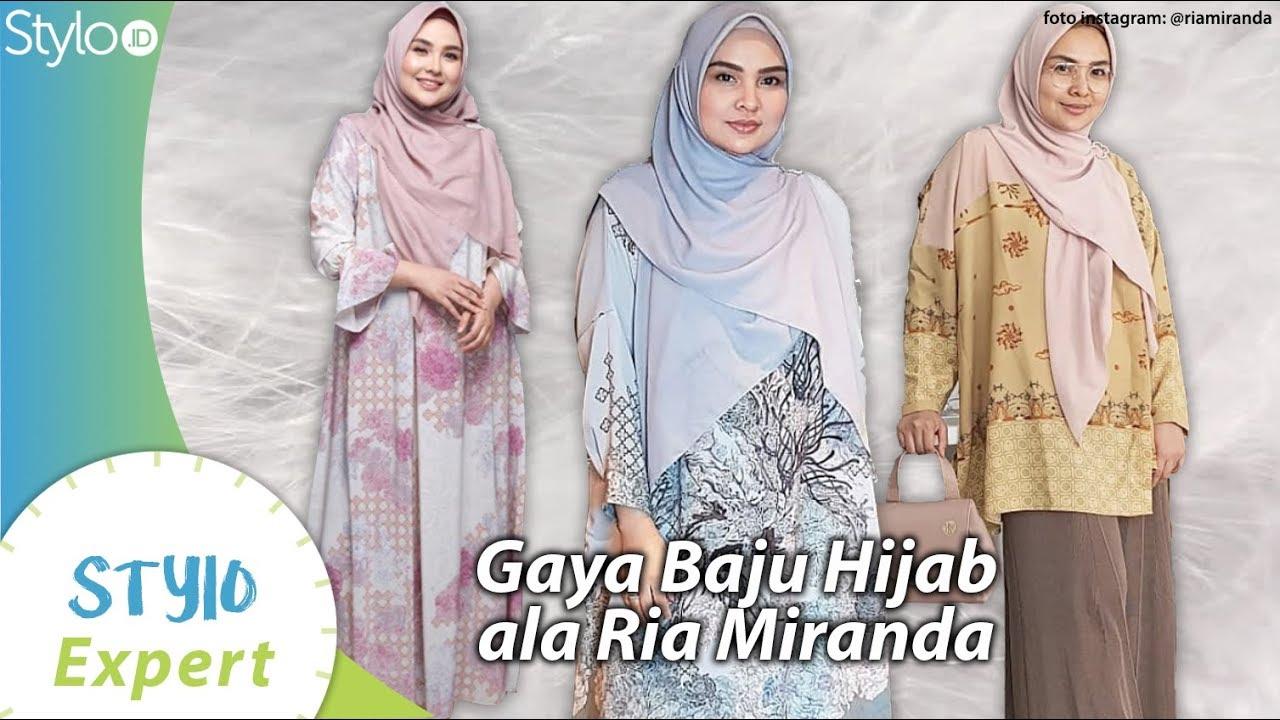 Gaya Baju Hijab & Muslim ala Ria Miranda yang Nyaman & Cantik untuk Wanita  Indonesia  Stylo.ID