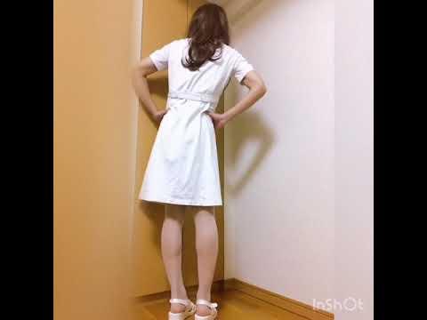 【女装】ナースコスプレ  白ストッキング 女装 パンスト