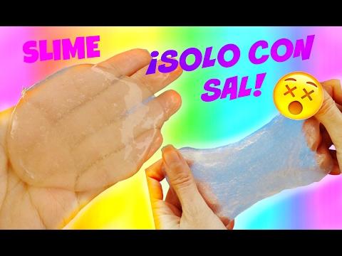 Haz SLIME solo con pegamento y sal | SLIME CRISTAL - TRASPARENTE