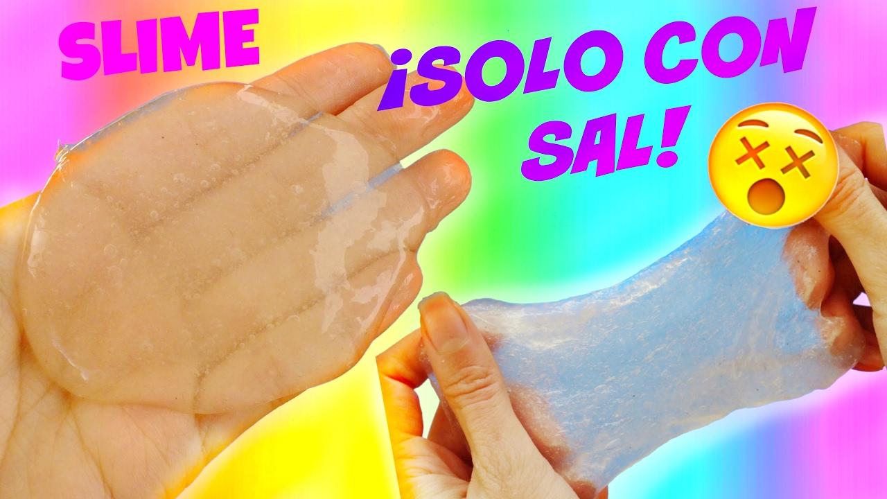 Haz slime solo con pegamento y sal slime cristal - Como hacer plastico liquido ...