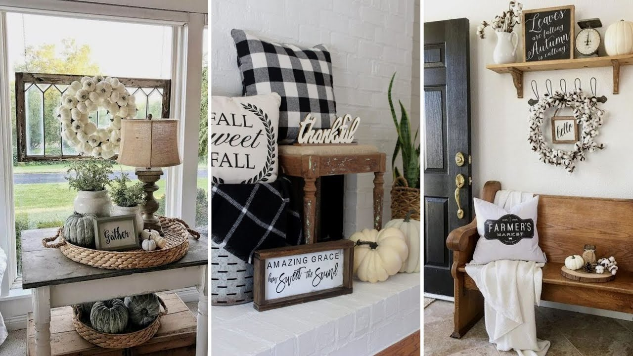 This is delightful and inspiring. Diy Rustic Shabby Chic Style Fall Home Decor Ideas Home Decor Interior Design Flamingo Mango Youtube