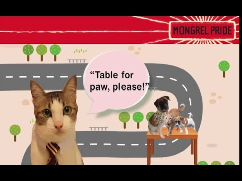 """Join the MONGREL PRIDE Movement! """"Table For Paw, Please!"""""""
