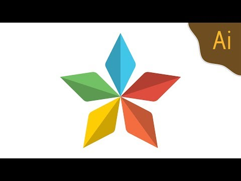 Draw 3D colorful star symbol (20) (Illustrator Tutorial) — abcinformatic thumbnail