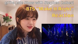 "Baixar 💜 BTS ""Make It Right"" ReactionㅣThe Late Show with Stephen Colbertㅣ방탄소년단 더레이트쇼 아미리액션"