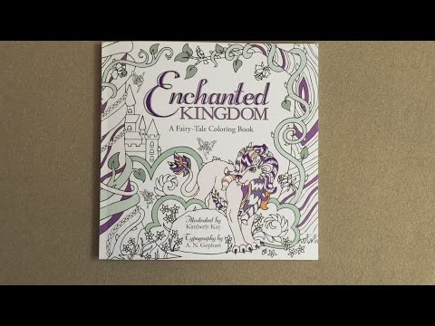 Enchanted Kingdom A Fairy Tale Coloring Book Flip Through