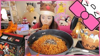 VOLCANO FIRE NOODLE CHALLENGE!!